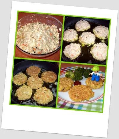 Collage de Picnik - Receta de hamburguesas de avena, tofu y verduritas