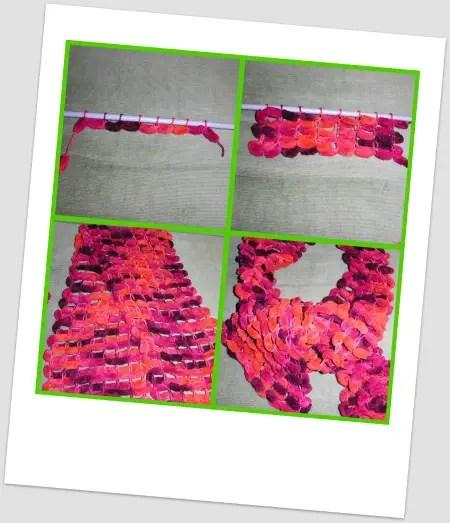 Collage de Picnik4 - Cómo hacer una bufanda de bolas paso a paso