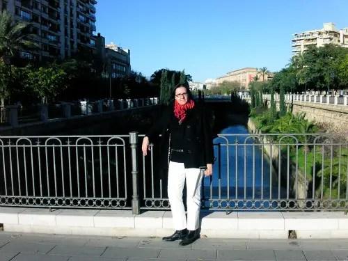 bufanda de bolas ana blanco