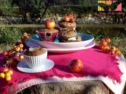 madalenas - magdalenas de chocolate rellenas de mascarpone
