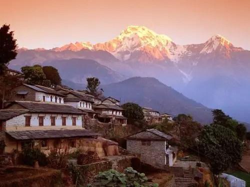 Ghandrung Village and Annapurna South Nepal Himalaya - Nada me hace falta