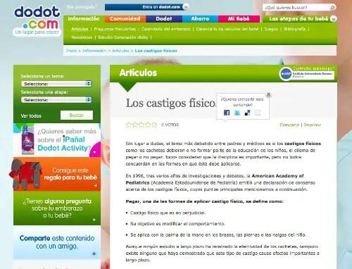 artículo dodot violencia 1peq2 - Dodot aconseja sobre cómo pegar a los niños en su web y la red le obliga a rectificar
