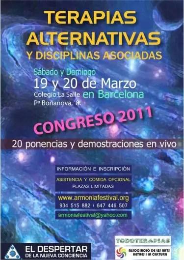 congreso de terapias alternativas 2011 - SORTEO de 10 entradas para el Congreso de Terapias Alternativas 2011 en Barcelona