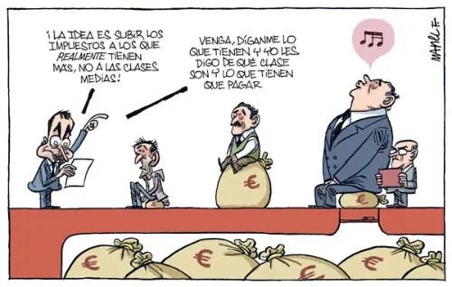 viñeta impuestos