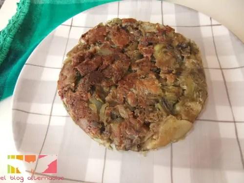 tortilla2 - tortilla de alcachofas sin huevo