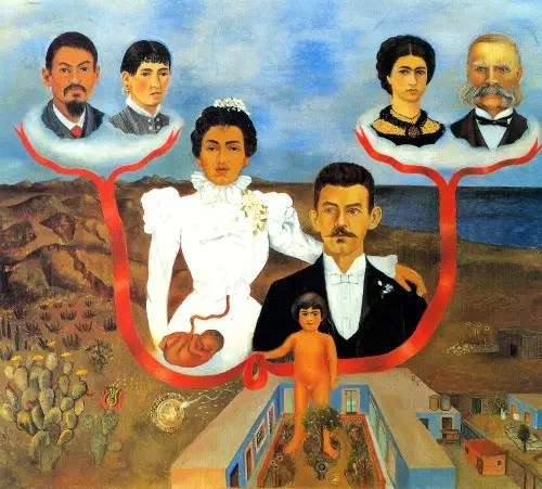 1936 mis abuelos mis padres y yo arbol familiar - 1936-mis-abuelos-mis-padres-y-yo-arbol-familiar frida kahlo