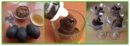 aguacate collague - Mousse de chocolate con aguacate