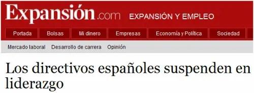 liderazgo - Los directivos españoles suspenden en liderazgo