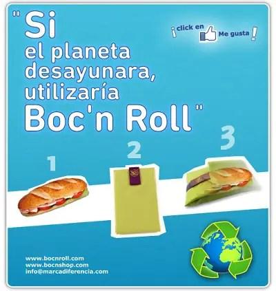 Boc´n Roll - SORTEO de 10 Boc´n Roll, el envoltorio de usar y REutilizar para tus bocatas
