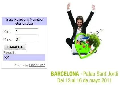 Ganadores sorteo Biocultura Barcelona 2011