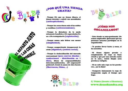 debalde2b1 - DEBALDE: nueva tienda gratis en Bilbao. El reparto justo de las cosas es posible