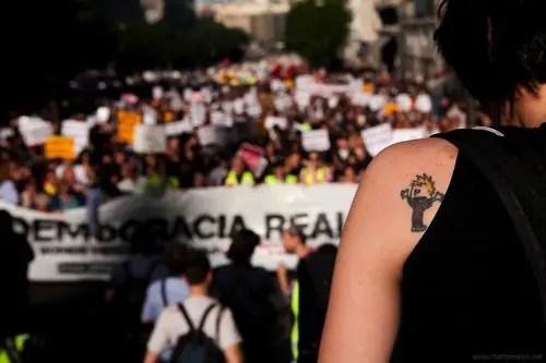 democracia real4 - Los jóvenes toman las plazas para cambiar el mundo: DEMOCRACIA REAL YA