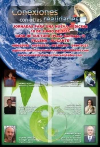 cartel congreso 2011 - Jornadas para una Nueva Medicina en Villena (Alicante) junio 2011
