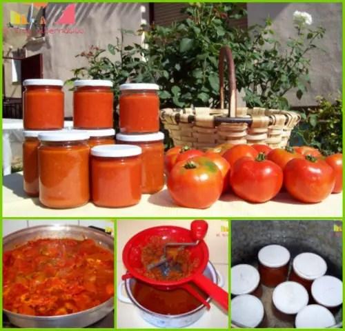 conserva de tomate frito casera