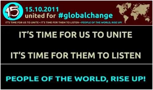 15 octubre - 15 de octubre 2011: ha llegado la hora de unirnos