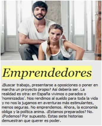 EMPRENDEDORES - Precisamente ahora: 7 historias de emprendedores en El País