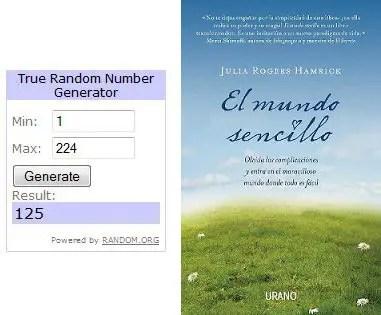 Sorteo El mundo sencillo URANO Ganadores - GANADORES Sorteo de 10 ejemplares del libro El mundo sencillo de Julia Rogers Hamrick (Editorial Urano)