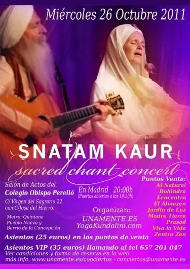 snatam 2011 puntos venta 723x10243 - Snatam Kaur en concierto en Madrid, octubre 2011