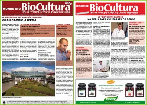 Collage de Picnik - Publicaciones online de Biocultura otoño 2011: boletín 47 y diario de la feria de Madrid