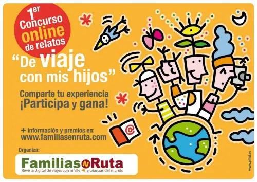 Flyer sin logos I concurso FamiliasenRuta de relatos De viaje con mis hijos - I concurso FamiliasenRuta de relatos De viaje con mis hijos