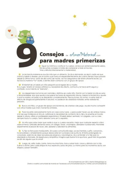 9 Consejos para madres primerizas