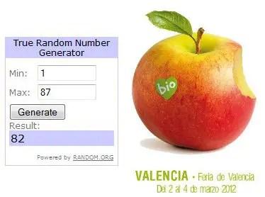 Ganadores sorteo entradas Biocultura Valencia 2012 - Ganadores del sorteo de 50 entradas dobles para Biocultura Valencia 2012