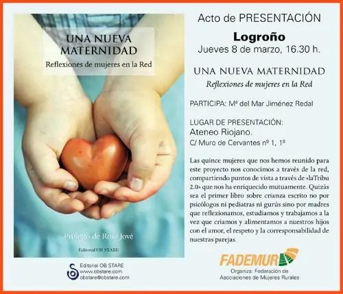 Presentación Logroño2 - presentación en Logroño de Una Nueva Maternidad