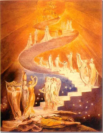 escalera al cielo de William Blake