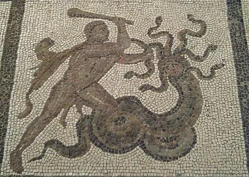 hercules mosaico - HÉRCULES y sus 12 trabajos: el mito en el siglo XXI