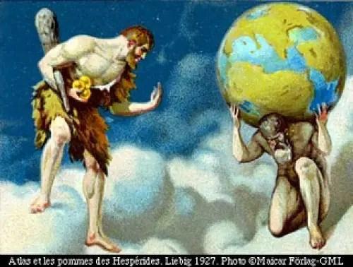 atlas - Las manzanas de oro del jardín de las Hespérides: 3er trabajo de Hércules