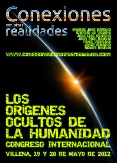 cartel congreso2012 72 - Los orígenes ocultos de la humanidad, congreso