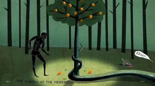 hercules manzanas oro hespérides