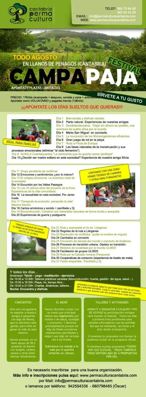 Festivalcampapaja2 - Festival CampaPaja en Cantabria en agosto 2012: información alternativa de camping