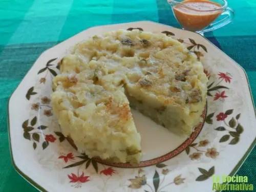 tortilla patata - Receta de tortilla de patata sin huevos