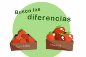 BUSCA LAS DIFERENCIAS - Busca las diferencias entre dos tomates y sus consecuencias