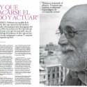 """PicMonkey Collage11 - """"Hay que sacarse el miedo de encima y ACTUAR"""". Entrevista a Arcadi Oliveres en la revista El color del dinero nº 27"""