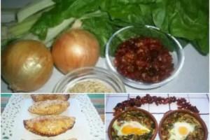 PicMonkey Collage3 - 2 recetas de acelgas con piñones y cherrys secos: empanadillas y huevos al plato
