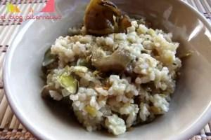 arroz portadab - Rissotto de arroz integral con alcachofas