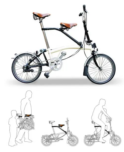 brompton con sillin infantil itchair - Brompton con sillin infantil Itchair