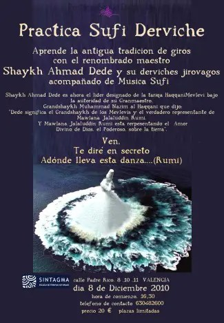 cartel sufi valencia def - cartel sufi valencia derviche