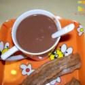 chocolate taza - Chocolate a la taza con leche vegetal