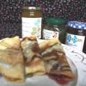 crepes - Crepes con mermeladas caseras de mango, kiwi y fresas