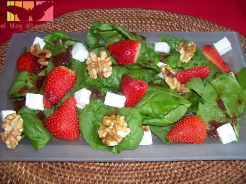 ensalada de fresas - ensalada-de-espinacas y fresas