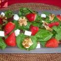 ensalada de fresas - Ensalada de espinacas y fresas con vinagreta dulce
