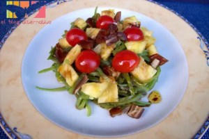 ensalada vainas - Ensalada de judías verdes con dátiles y piña