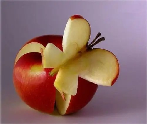 food art 1 - manzana mariposa