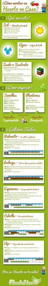 infografia como montar huerto en casa -
