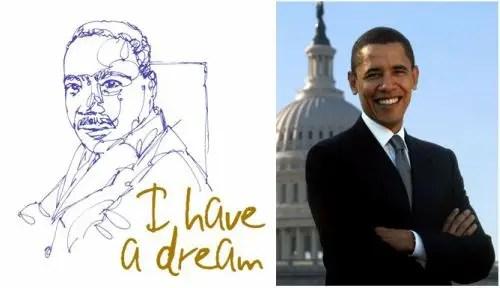 obama - obama, luther king