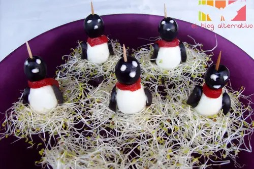 pinguinos - huevos pinguinos para aperitivos