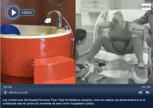 piscina parto1 - Piscina y sala de parto natural en hospitales públicos catalanes (vídeo)